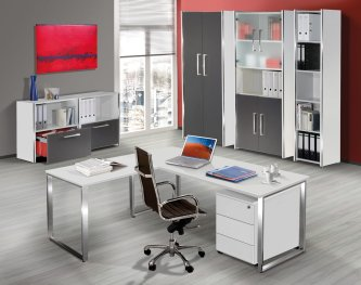 frei planbare und moderne b roeinrichtung preiswerte b roschr nke aus holz und edelstahl. Black Bedroom Furniture Sets. Home Design Ideas