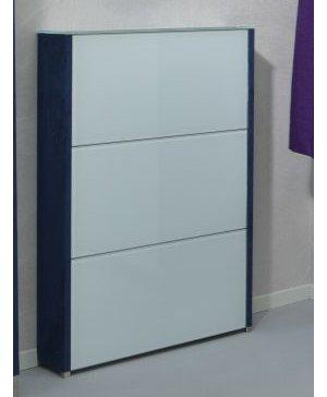 eleganter edelstahl schuhschrank mit 3 klappf cher aus sicherheitsglas ultrawhite anthrazit. Black Bedroom Furniture Sets. Home Design Ideas