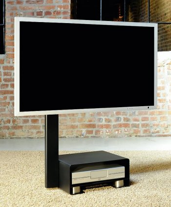 moderner und rollbarer fernseher standfu f r 42 zoll led. Black Bedroom Furniture Sets. Home Design Ideas