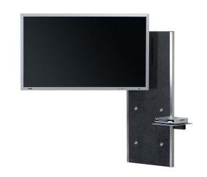 moderne flatscreen wandhalterung in den raum frei schwenkbar und um 360 grad drehbar. Black Bedroom Furniture Sets. Home Design Ideas