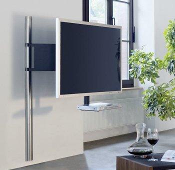 sehr hochwertige in den raum um zwei achsen frei drehbare edelstahl tv wandhalterung f r. Black Bedroom Furniture Sets. Home Design Ideas